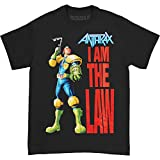 Photo de Anthrax I am the Law - T-shirt - Manches courtes - Homme, Black, Medium (Taille fabricant: Medium)