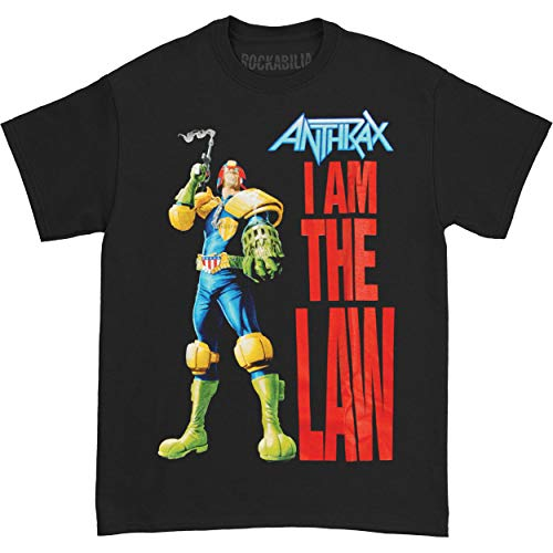 Anthrax I am the Law - T-shirt - Manches courtes - Homme, Black, Medium (Taille fabricant: Medium)