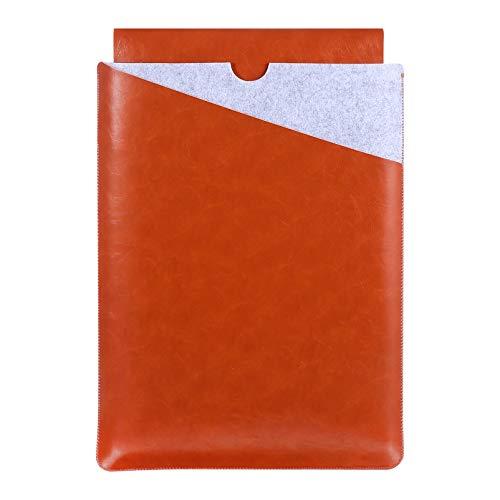 ULTECHNOVO Bolsa para Tablet Bolsa de Couro Pu Bolsa para Tablet de 13 Cm. Capa Protetora para Laptop de 3 Polegadas Compatível Com Notebook Macbook Air Pro (Marrom)