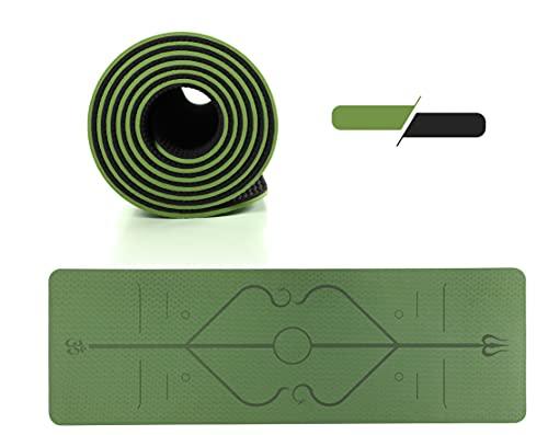 GreenBee Esterilla Yoga Antideslizante - Esterilla Deporte en Casa - Alfombra Yoga Mat Plegable - Colchoneta Gimnasia Pilates Fitness - Verde
