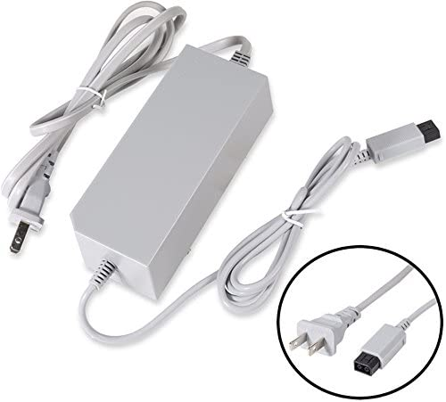 PerriRock AC Wall Power Supply Cable Cord Replacement for Nintendo Wii