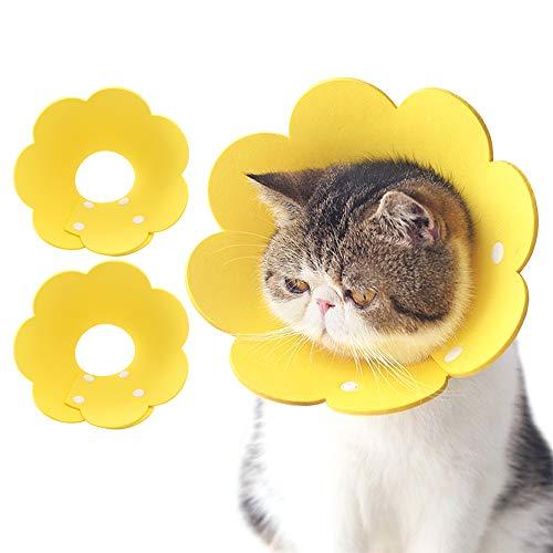 N/D Besylo Recuperación Mascota Cono,2PCS Collar isabelino Después de la recuperación de la cirugía o Herida para Perros y Gatos (Amarillo)