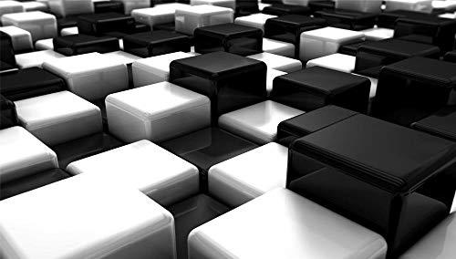 Jigsaws Puzzel,Puzzels Zwart-Wit Blokken Blokjes,Diy Houten Puzzle 500 Stukjes, Legpuzzels Voor Volwassen Kinderspeelgoedspel (52 * 38Cm)