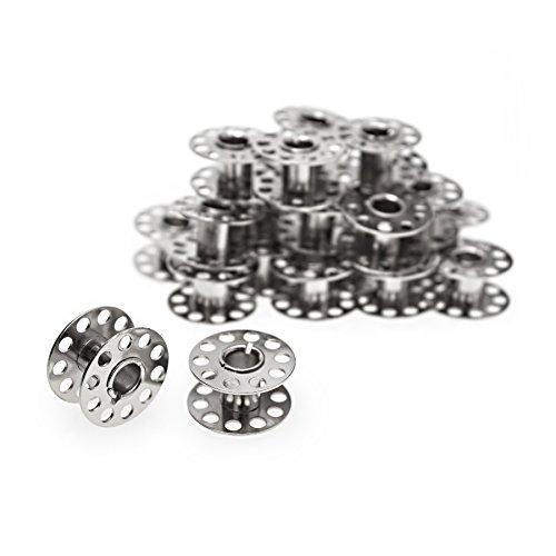 Faden & Nadel 25 Spulen leer für die Nähmaschine/Nähmaschinenspulen aus Metall