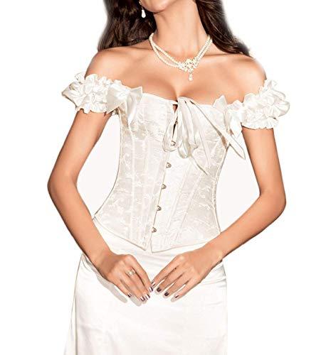 Schoudervrij korset dames 2018 mode klassiek corsage vintage elegante steampunk modieuze gothic taille training body shaper bustier corsage niet inbegrepen rok