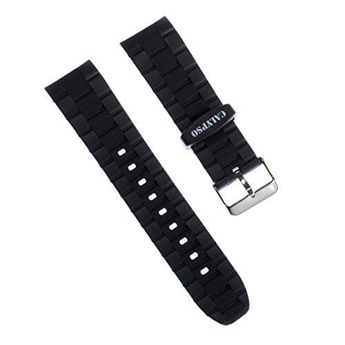 Calypso - Correa para reloj de pulsera, poliuretano, color negro, para reloj Calypso K6062
