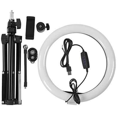 Luz LED, luz de preenchimento LED, luz LED de 10 '', estúdio de vídeo de maquiagem estável e giratório para fotografia de transmissão ao vivo