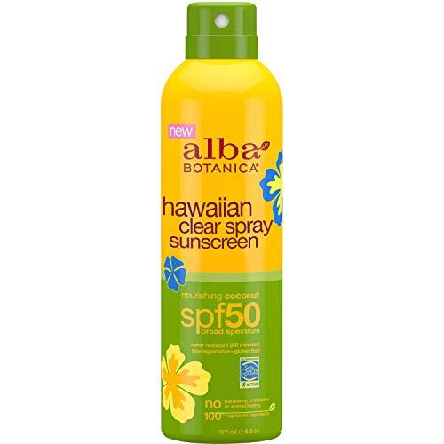 Alba Botanica Spf50 Sunscreen Hawaiian 6 Ounce Clear Spray (177ml) (2 Pack)