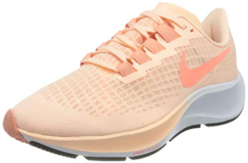 Nike Wmns Air Zoom Pegasus 37, Zapatillas para Correr Mujer, Crimson Tint Crimson Pulse Crimson Bliss White Black, 40.5 EU
