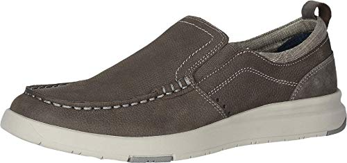 Dockers Mens Collins Leather Casual Loafer Shoe, Charcoal, 10 M