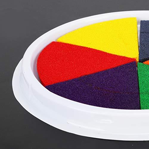 Almohadillas de tinta, almohadillas de tinta para pintura de 6 colores para pintar con los dedos para álbumes de recortes