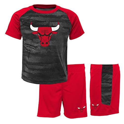 NBA Jungen Chicago Bulls-Shorts and T-Shirt Sportswear-Set, Rot (Red/Black RBL), 1-2 Jahre (Herstellergröße: 18 Monate)