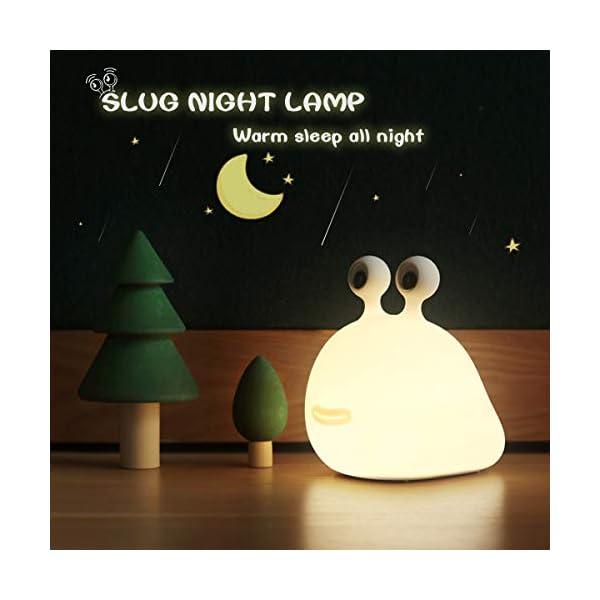 【MUID Original Authentic】 Slug Night Light, Nursery Squishy Lamp, Silicone Night Light for Breastfeeding, Cute Animal Bedside Lamp for Baby Kids Teens, Soft Nightlight with Touch Sensor for Bedroom