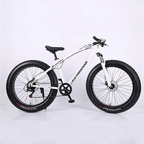 Bikes, Bicicleta de Montaña Todoterreno Playa Nieve 4.0 Neumáticos Grandes Neumáticos Anchos, Cuadro 26', 7 Velocidades, Bicicleta de Ciudad , Bicicleta de Carretera, Bicicleta de Trekking Unisex