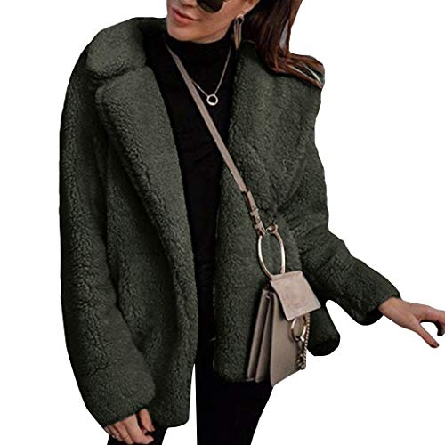 Azastar dames faux bont mantel bont jas bont jas jas warm pluche mantel elegant imitatiebont faux winterjas