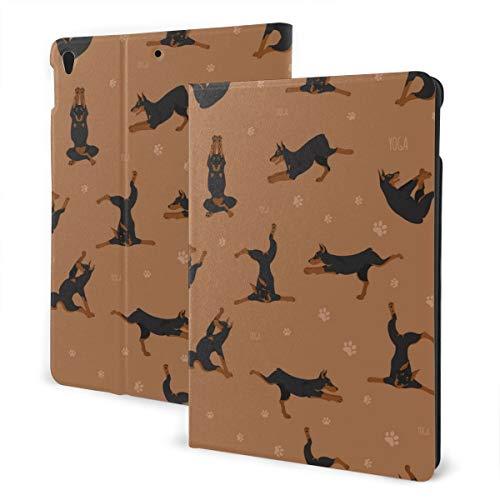 Estuche iPad Personalizado Yoga Perros Poses y Ejercicios Soporte multiángulo Ángulo automático magnético Despertar Estuche Protector iPad para iPad 7th 10.2 Inch