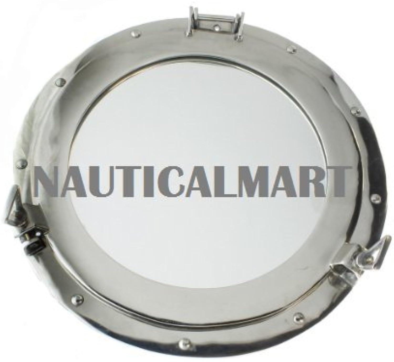 Porthole Clear Aluminum Chrome 17  By Nauticalmart