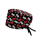 ROBIN HAT - Cuffie da sala Operatoria STAR WARS LOGO - CAPELLI CORTI- 100% cotone (Autoclave) - Massima comodità