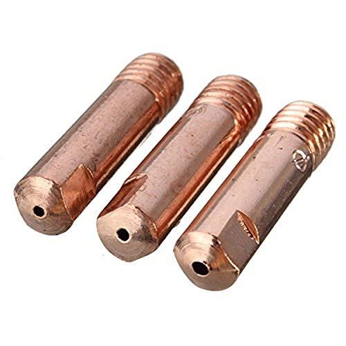 MASUNN 10 Piezas Mb-15Ak M6 Mig/mag Antorcha De Soldadura Punta De Contacto Boquilla De Gas 0.8/1.0/1.2 mm-1.0mm
