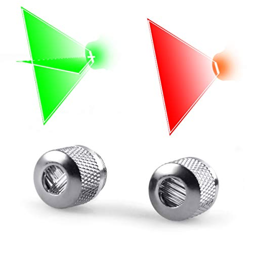 FreeMascot Metal Line Beam and Cross Beam Head Caps Combo Set for Laser Pointers and Laser Levels (Silver)