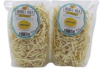 Double Yolk Gluten Free Medium Egg Noodles,10 Ounce Bag  Pack of 2