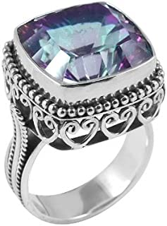 Sterling Silver Ring with Mystic Quartz AR-6074-MT-6