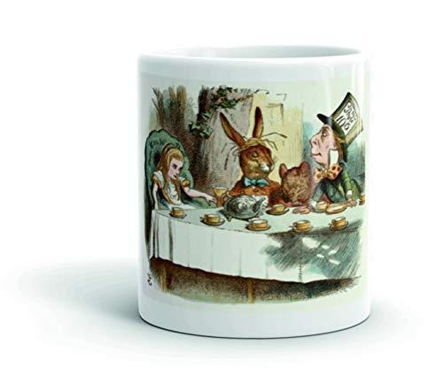 Cannon Collectables British Library Alice in Wonderland - Taza de cerámica con diseño de fiesta de té del sombrero loco