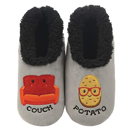 Snoozies Slippers for Women - Pairables Womens Slippers - Couch Potato - Large