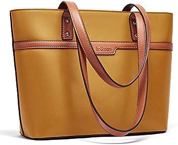 Bromen Women's Designer Leather Large Capacity Handbags