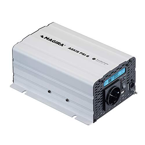 MAGIRA Askis 600W 12V zu 230V Sinus-Wechselrichter PSI-6 mit reiner Sinuswelle für Wohnmobil oder Garten