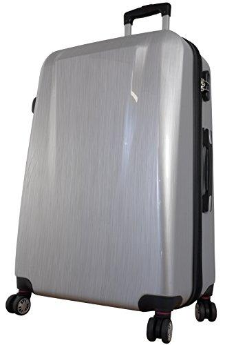 Polycarbonat Koffer Wellington Gr. M+L 56+64cm, 35+59 Liter, 4 (Silber)