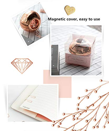 Marble Rose Gold Acrylic Sticky Memo Pad Holder with Rose Gold Paper Clips Holder 100pcs 28mm Rose Gold Paper Clips Rose Gold Modern Desk Organizer Set for School Office and Personal Use Photo #3