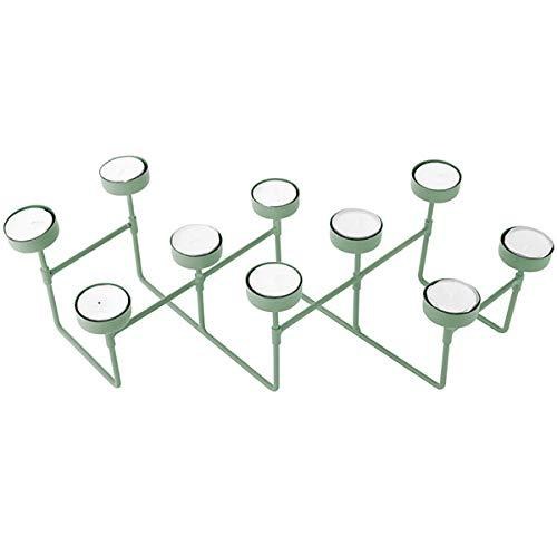 Present Time Harmonica Tea Light Holder Photophore en métal Vert jade mat 49 x 16 x 12,5 cm