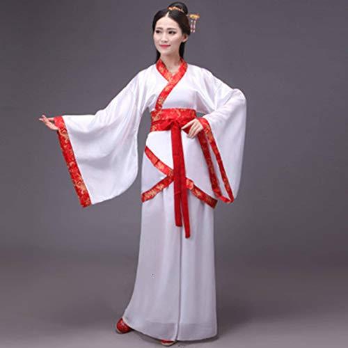 N-B Traje Tradicional Chino Hanfu Tang para Mujer, Disfraz de Cosplay, Vestido de Baile de Escenario para Adultos, Conjunto de Ropa Cheongsam