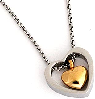 Zahara Memorial Urn Necklace (20 Inches) with Velvet Pouch & Fill Kit   Double Heart Pendant and Chain (Nickel Free)