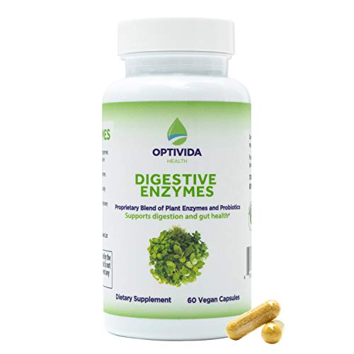 Plant-Based Digestive Enzymes , Gluten & Dairy Digestion Support, Immune Health, Reduces Bloating, Diarrhea & Discomfort, No Added Sugar, Egg,Soy, Wheat, Corn, and Preservatives ,60 Veg Capsules