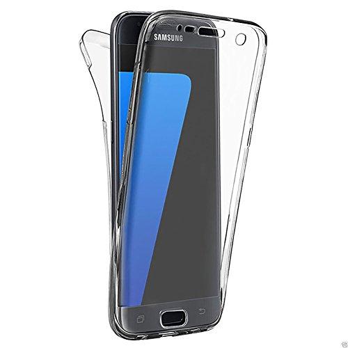 für Galaxy S7 Hülle, Clear Cover für Samsung Galaxy S7 360 Grad Full Body Silikon Schutzhülle, Girlyard Ultra Dünn Weiche TPU Transparent Vorne Hinten Komplett Schutz Handyhülle (Klar Cristal)