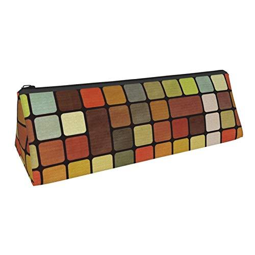 Cube Pencil Bag Pen Case, Compact Zipper Pencil Pouch Bag for Office School Student Boys Girls