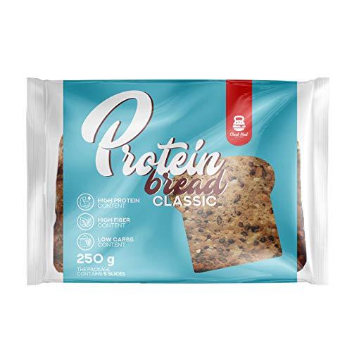 Cheat Meal Protein Bread Classic Confezione da 1 x 250g (5x50g) – Proteina Pane - Proteina di Piselli e Farina di Segale - Soia e Semi Sani - Alto Contenuto di Fibre - Carboidrati Bassi
