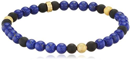 Thomas Sabo Herren-Armband Rebel at heart 925 Silber Lapis Lazuli blau 17 cm - A1529-931-32-L17