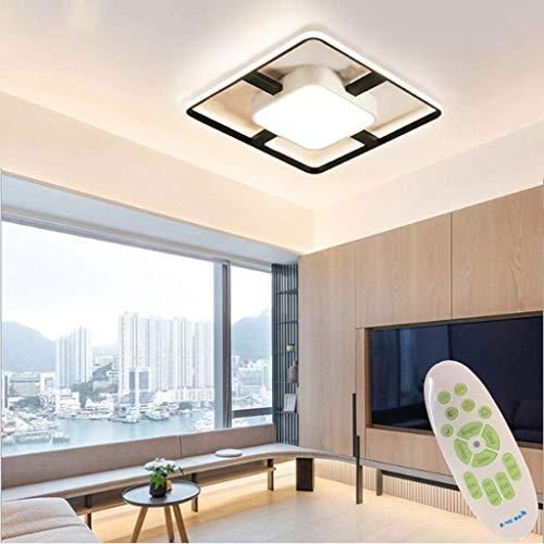 Wlnnes Moderna 50W LED de atenuación de techo cuadrada de iluminación de luz de LED de interior de techo lámpara de techo con ajustable temperatura de color con el oscurecimiento de control remoto acr
