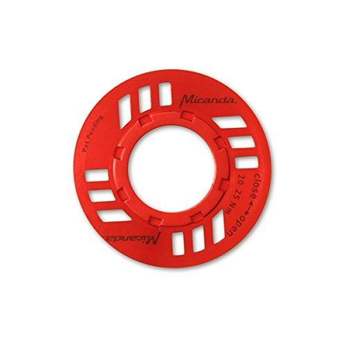 Miranda E-Bike Kettenschutz mit O-Ring für Bosch Antrieb, rot, One Size