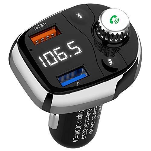 Youmine T62 Handsfree Car Kit Reproductor MP3 QC3.0 Cargador USB Transmisor FM
