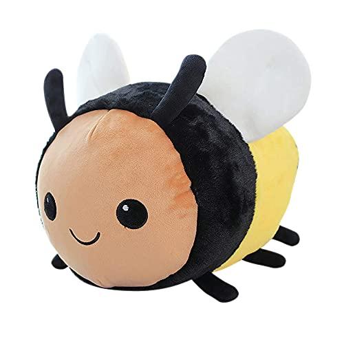 sujinxiu Biene Plüschtier Kissen Kissen Mollige Hummel Weiches Plüschtier Niedlicher Marienkäfer Gefleckte Flügel Hummel Kuscheltier Spielzeug für die Inneneinrichtung