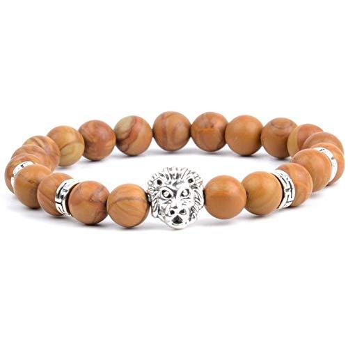 TEVERL zilveren armband natuursteen Labradorite kraal armband vrouwen sieraden mannen accessoires