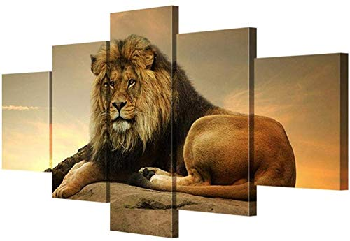 Preisvergleich Produktbild RR&LL Hang-Dressers Leinwand Bilder Moderne Wandkunst König der Löwen Poster HD Print Wohnzimmer Dekorative Wandmalerei (Größe: A)