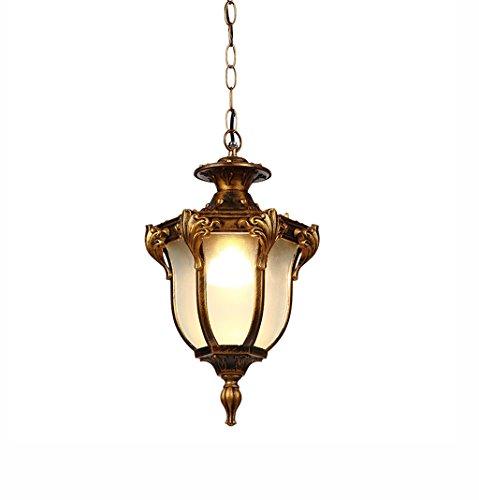 William 337 Retro Hallway Pendentif Lampe/Balcon/Allée/Extérieur/Villa/Paysage imperméable à l'eau anti-rouille (Couleur : Bronze-Les petites)
