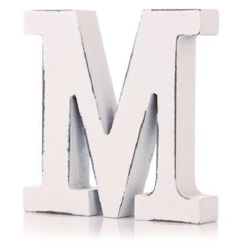 Shruti Lettre de l'alphabet en bois blanc