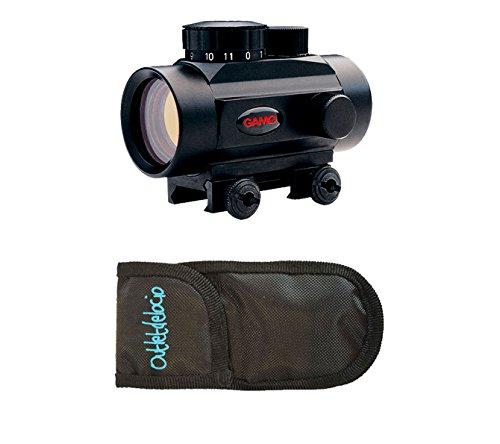 Pack Visor Gamo Quick Shot BZ-30. Punto rojo + Funda Multiuso. Especial para tiro deportivo. 22079/23054