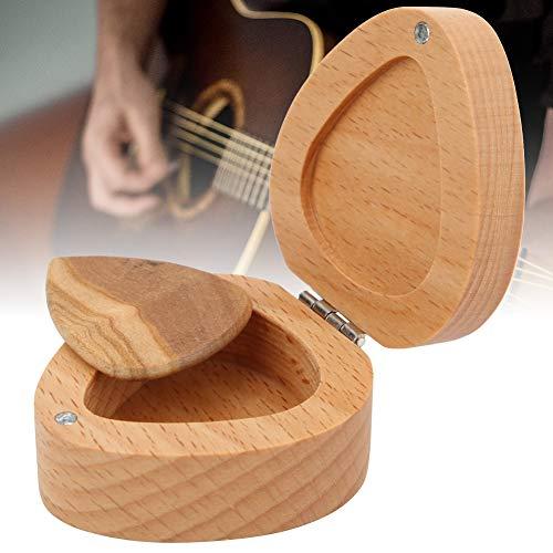 Gitarren-Pick-Behälter, akustische Plektrum-Box, langlebiges, herzförmiges, tragbares Gerät zur Aufbewahrung von Gitarristen